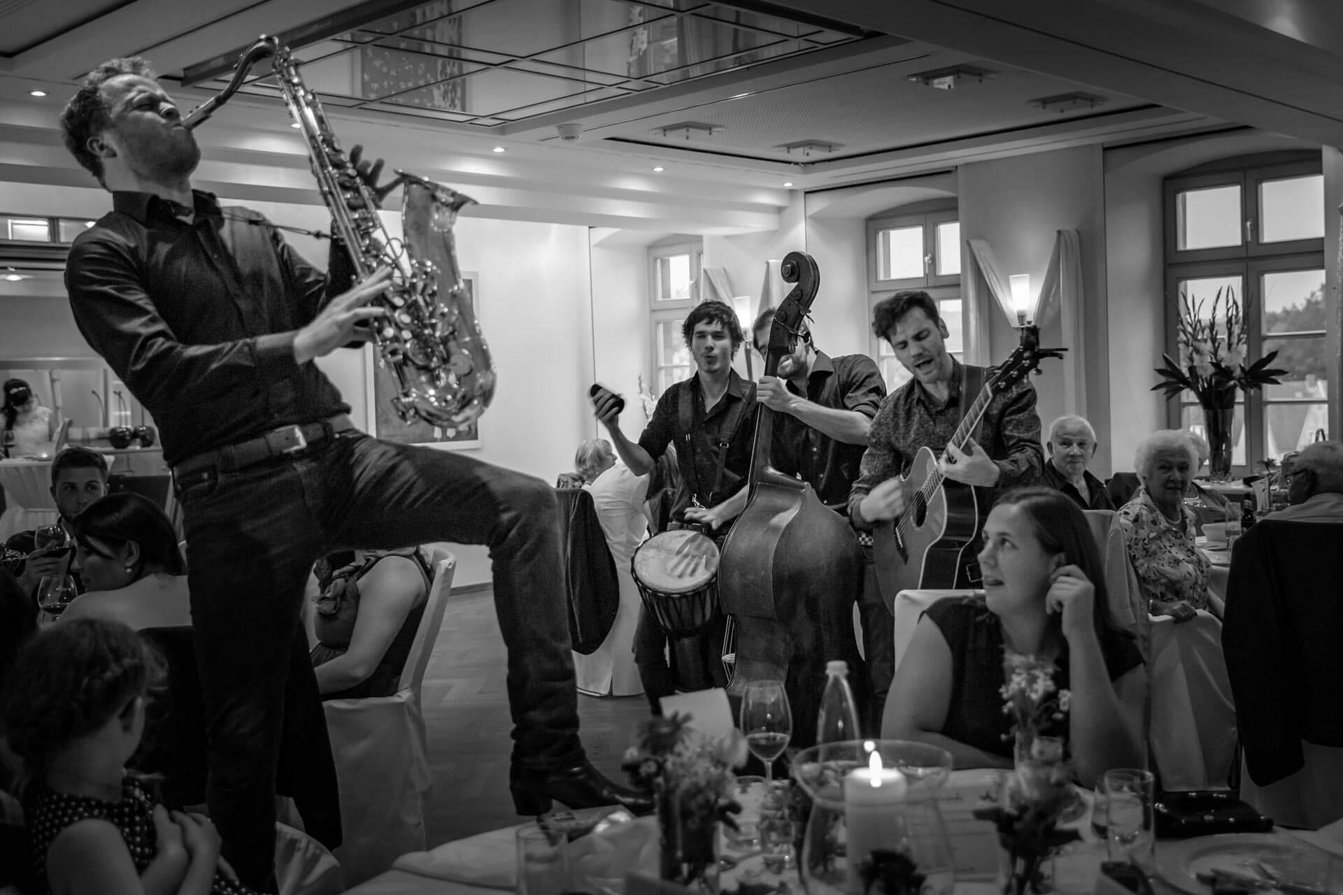 hochzeitsreportage, band, party