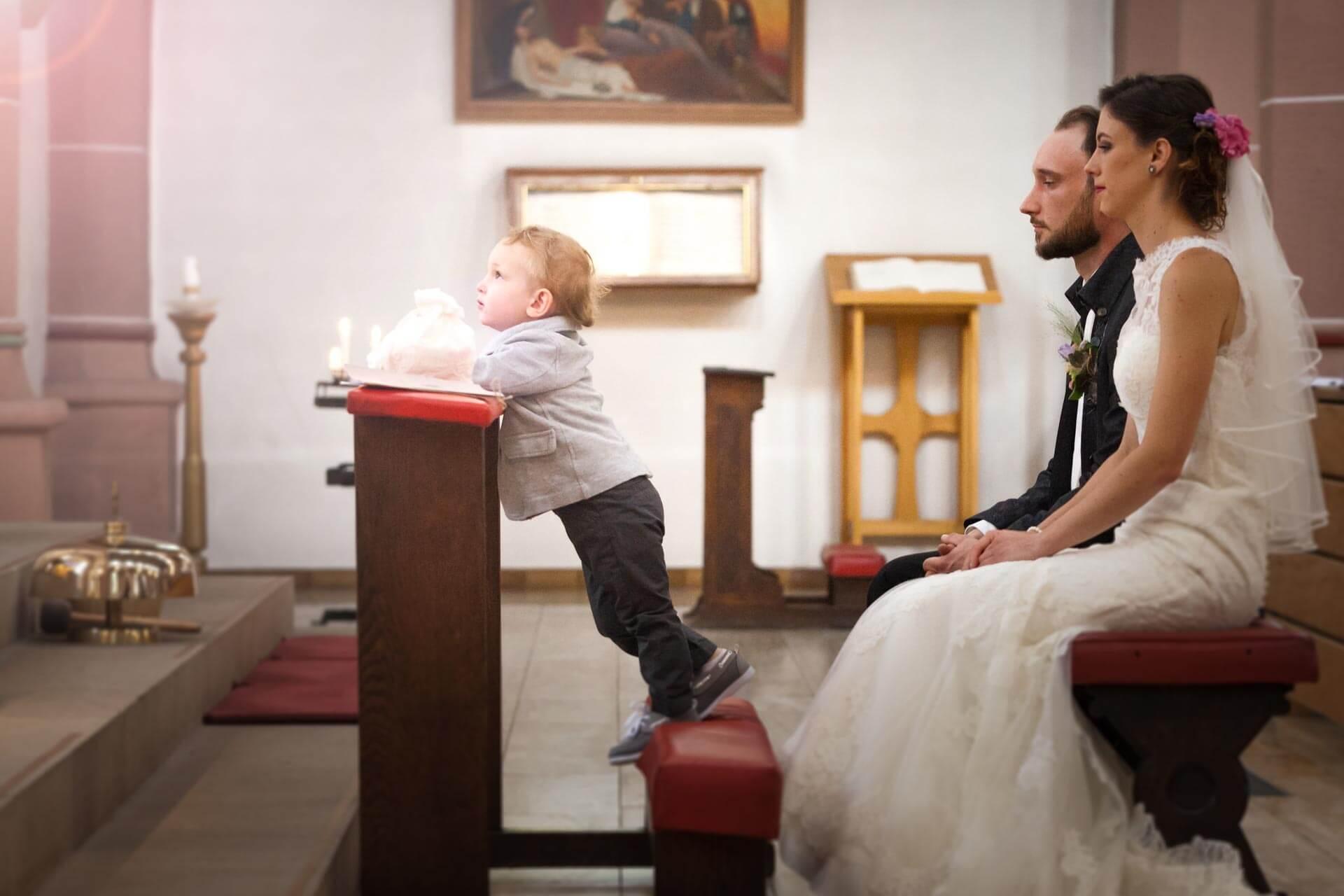 brautpaar, kirche, trauung, zeremonie