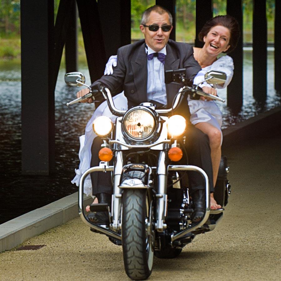 an unserem 23sten Hochzeitstag auf unserer Harley